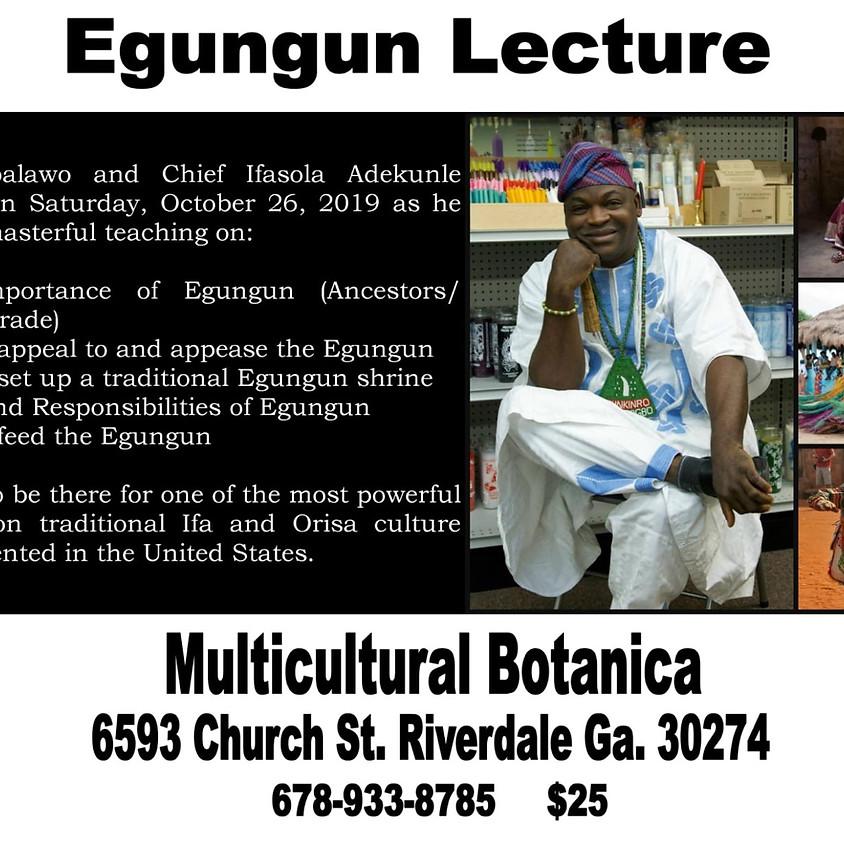 Egungun Lecture