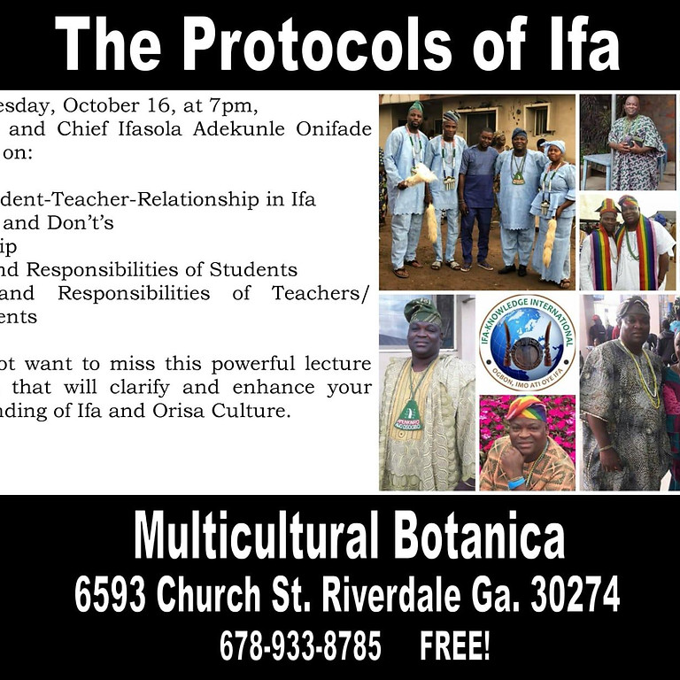 Protocols of Ifa Lecture