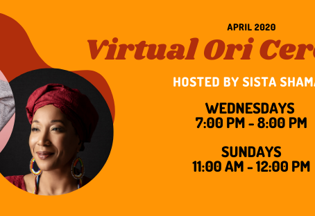 Join Me in April 2020 for Virtual Ori Ceremonies