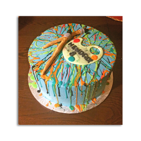 Paint Splatter Birthday Cake