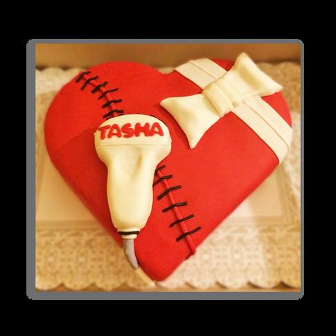 Cardiac Ultrasound Cake