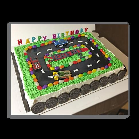 Race Track Birthday Cake
