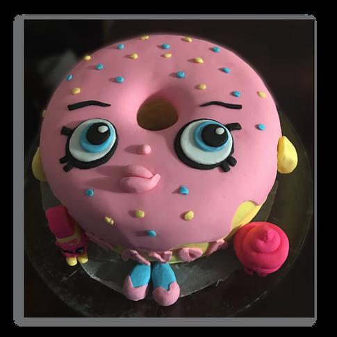 Shopkins Donut Birthday Cake