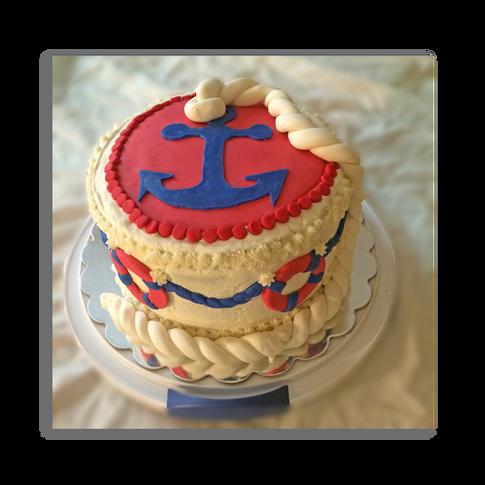 Martime Baby Shower Cake