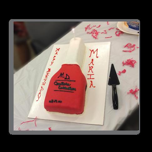 Nail Polish Birthday Cake