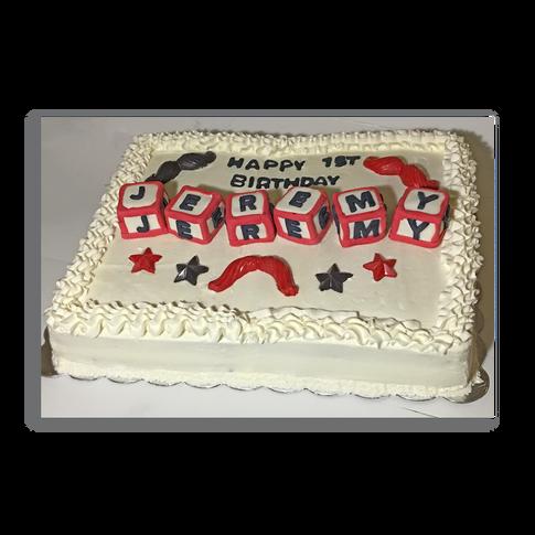 Mustache Birthday Cake