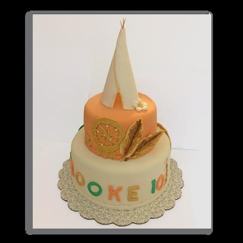 Tepee Birthday Cake
