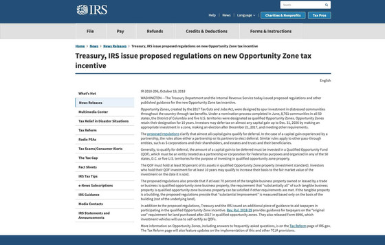 Opportunity Zone Regulations Published!