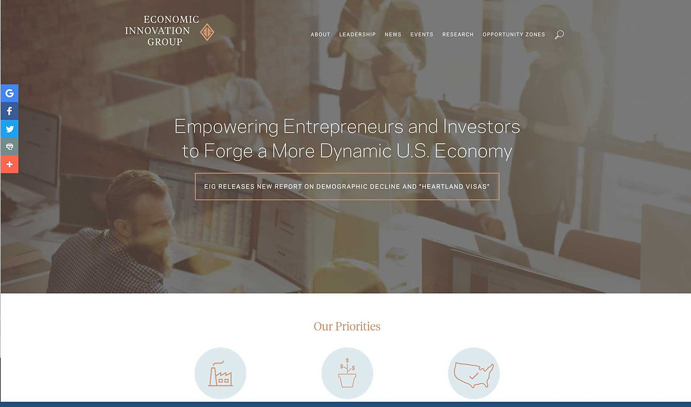 The Economic Innovation Group is an excellent source for information on Opportunity Zones.