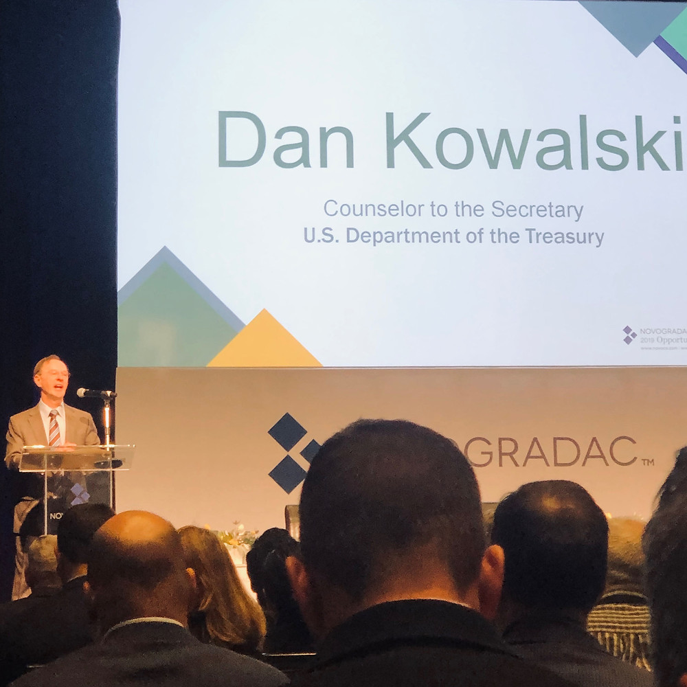 Daniel Kowalski, counselor to the Secretary of the U.S. Department of the Treasury at the Novogradac Opportunity Zones 2019 Spring Conference.