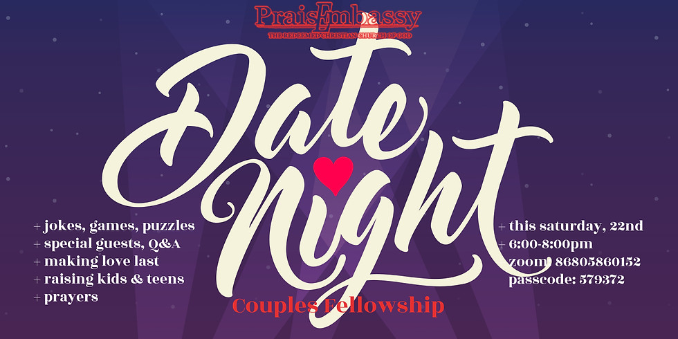 Date Night - Couples Fellowship (Online /Zoom)