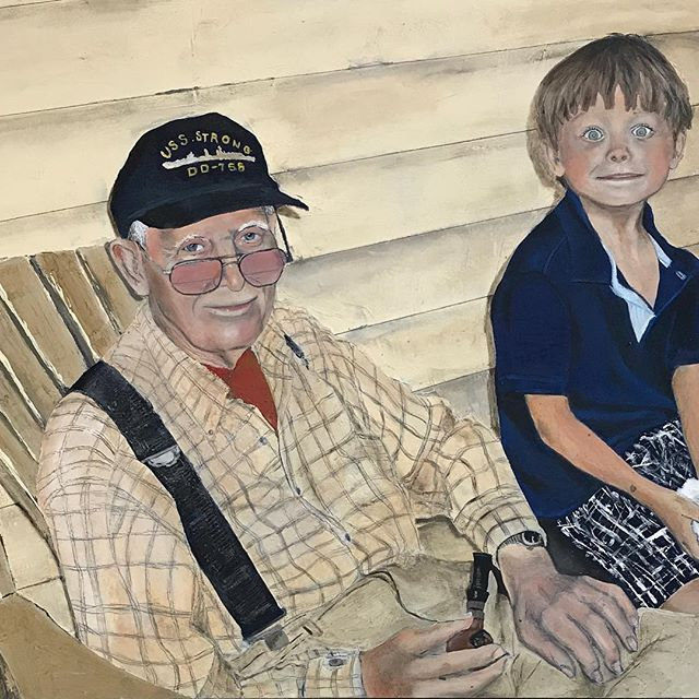 My Norman Rockwell style painting of my