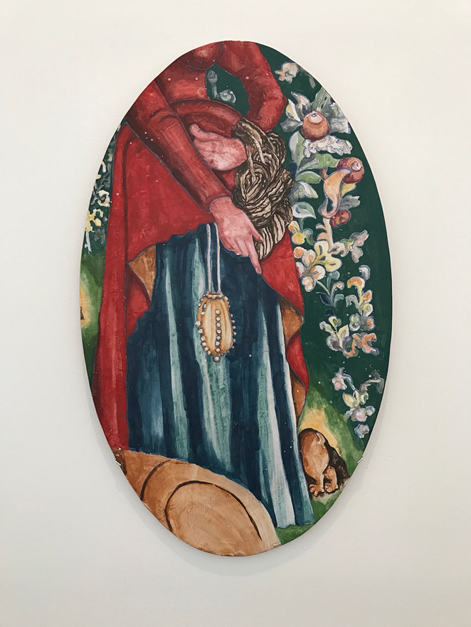 Woman With Escaping Rabbit