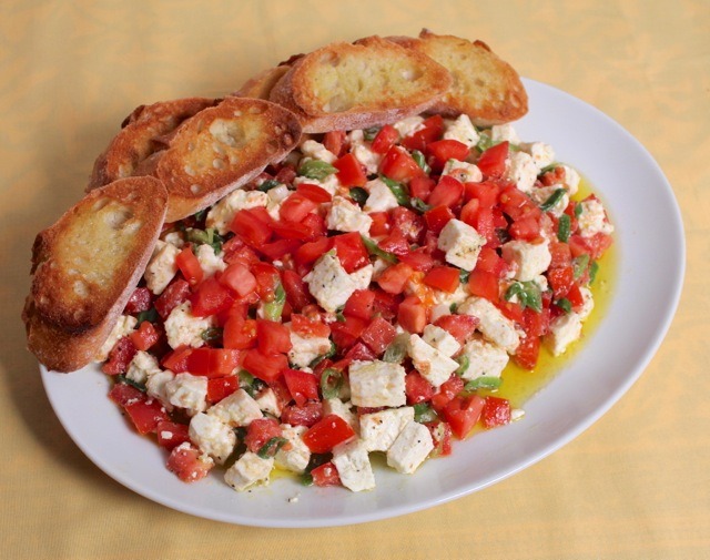 Bruschetta with Garlic Bread