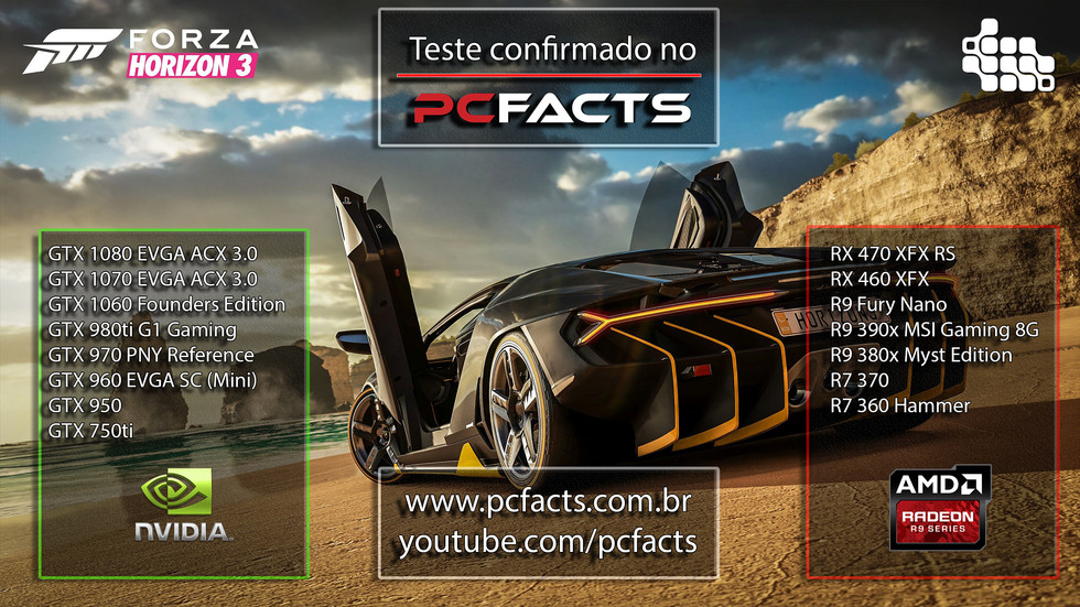 Forza Horizon 3 estará nos testes do PC Facts