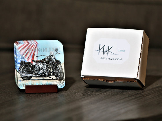 Coaster Set with Stand - Sports/Patriotic