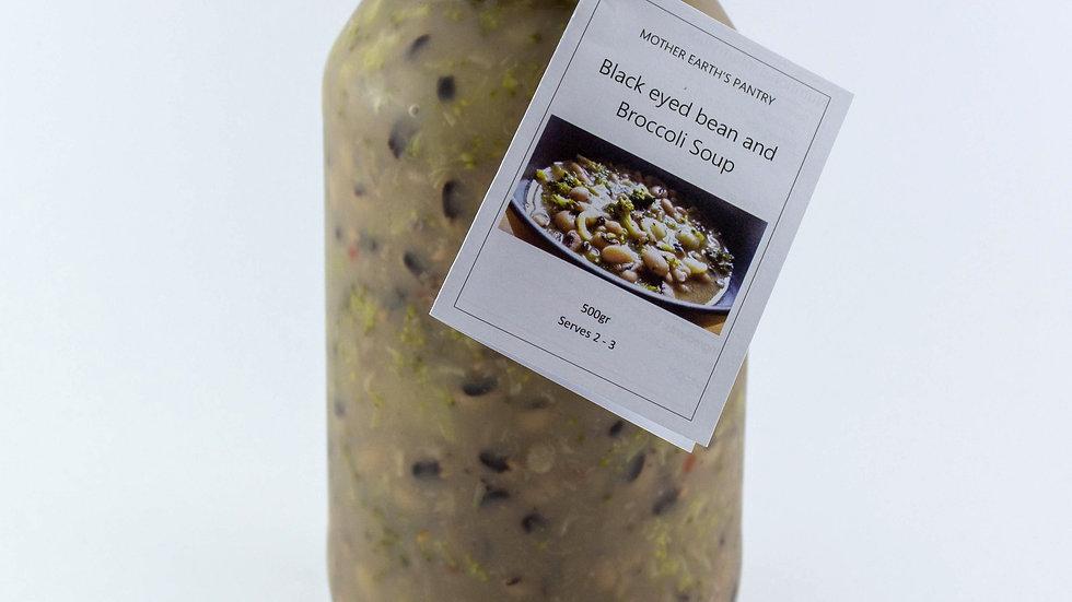 Black Eyed Bean & Broccoli Soup