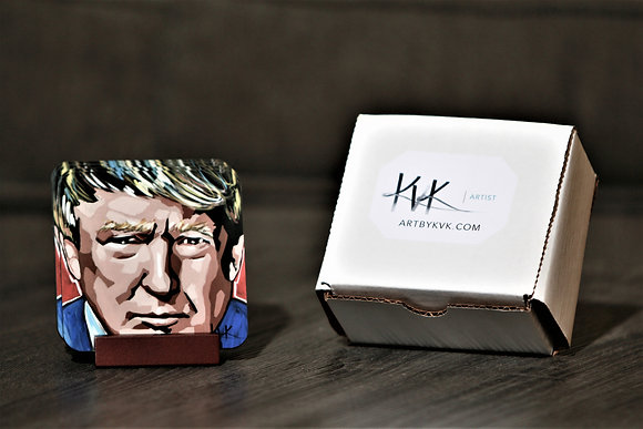 Coaster Set with Stand - Celebrity Portraits