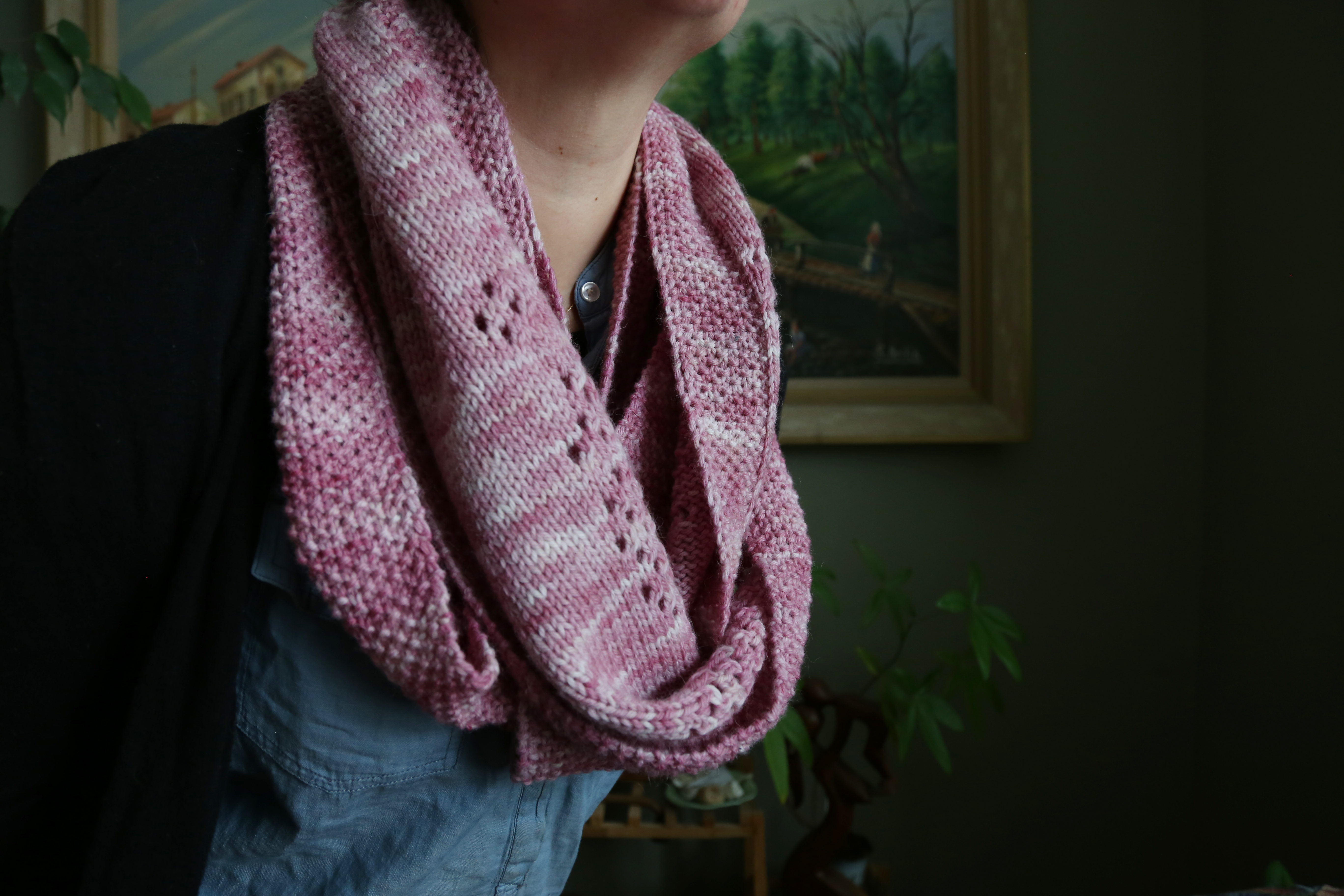 Eyelet Patch Cowl