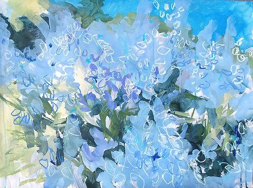 Ivy-Walker,-lupine-flurry,-22x30,-acryli