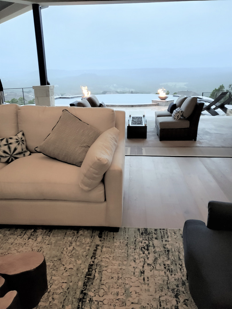 Living room opens to Outdoors