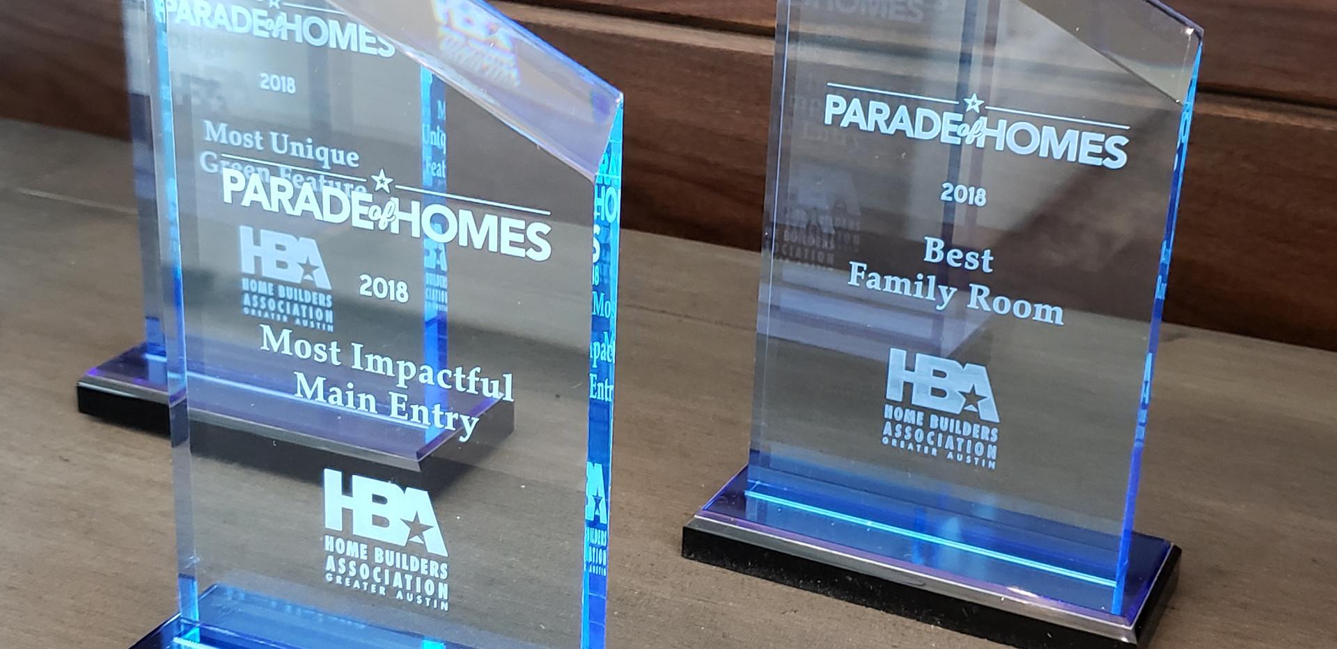 Parade of Homes Austin - Awards