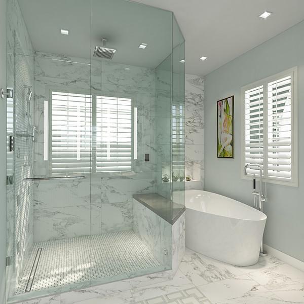Serene Blue Spa Bath