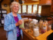 Molly with bean jars, by Gary.jpg