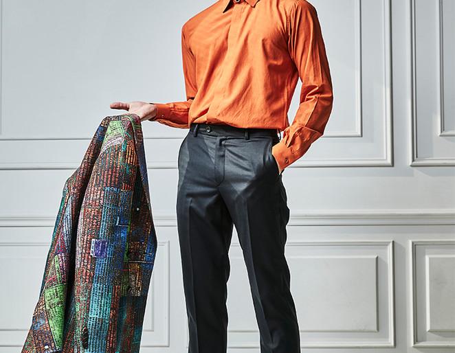 MEYOOMI_미유미_OrangeShirts_Slim Fit Shi