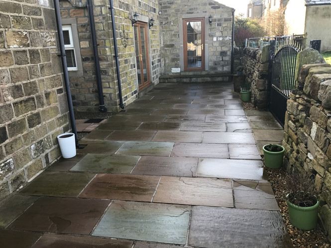 Indian Flagstone & House Wall Cleaning In Bradford, Leeds and York