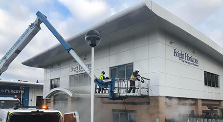 Cladding Cleaning in Cumbria, Lancashire, London, Glasgow, Dundee and Edinburgh.