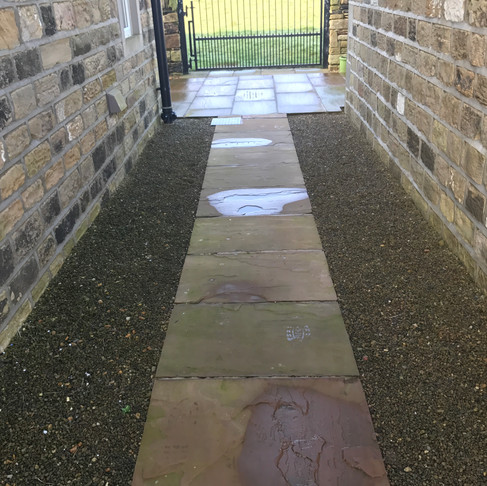Indian Flagstone & House Wall Cleaning