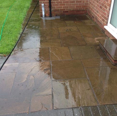 Domestic Services: Patio and Natural Stone Cleaning