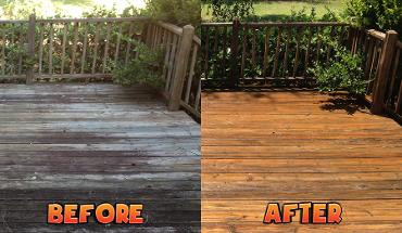 Domestic Services: Decking Cleaning