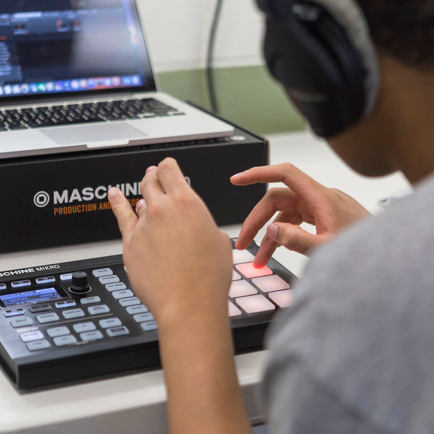 Youth student learning beats