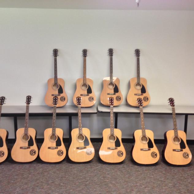 SD Kickoff donated guitars