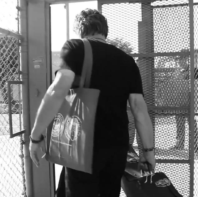 Teaching artist entering prison