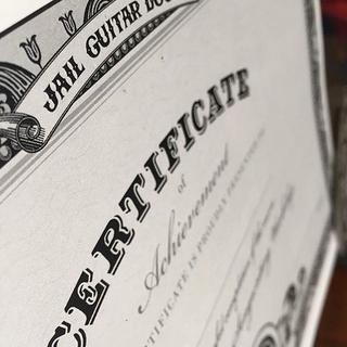 JGD Certificate