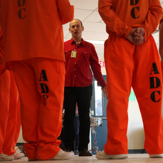 Wayne with Inmates in Arizona