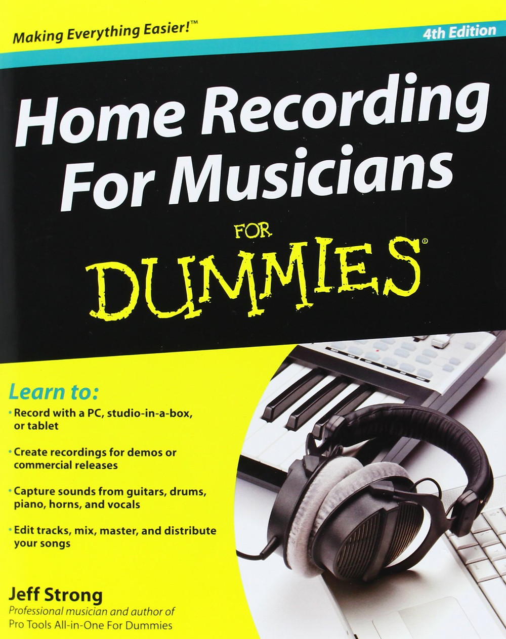 cover of Home Recording for Musicians for Dummies