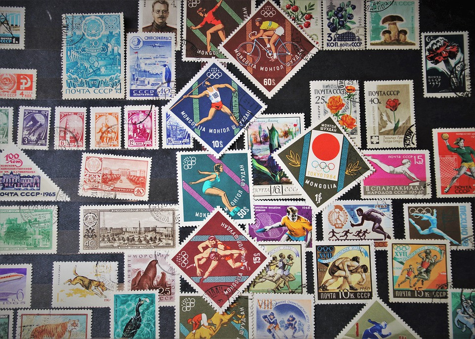 World Stamp Collection - top view