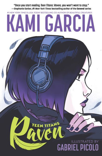 Cover photo of Teen Titans: Raven - Drawing of the side profile a girl with purple hair and headphones