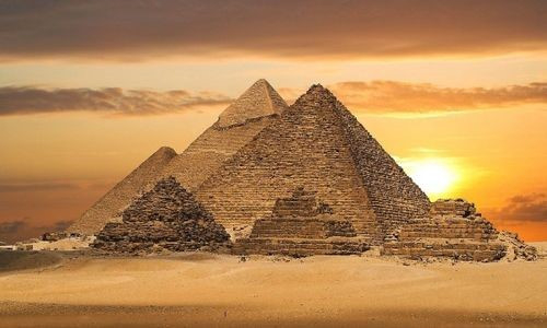 Egyptian Pyramid at sunset