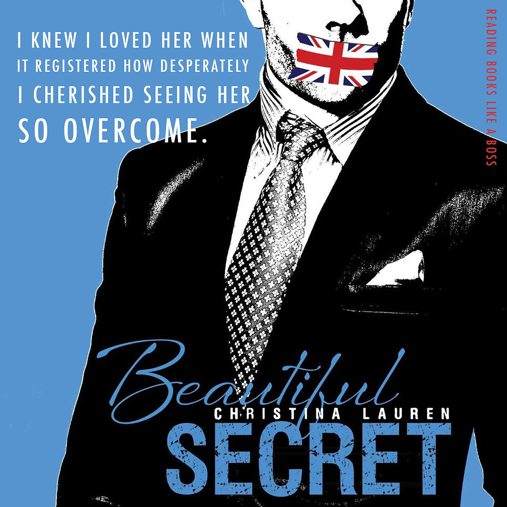 "Cover photo of Beautiful Secret with quote ""I knew I loved her when it registered how desperately I cherished seeing her so overcome."""
