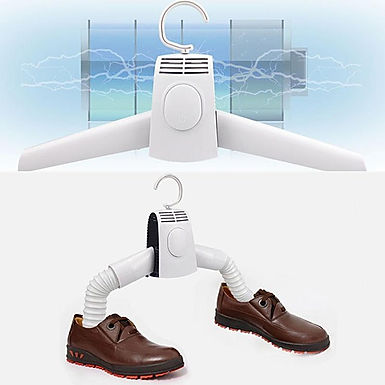 Mini Electric Folding Fast Drying Portable Clothes and Shoes Dryer Hanger
