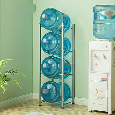 4 Tier 5 Gallon Water Bottle Holder Detachable Strong Metal Shelf Storage Rack
