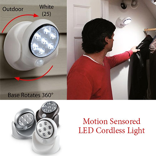 LED Sensor Activated Wireless Motion Multipurpose Light for Indoor & Outdoor
