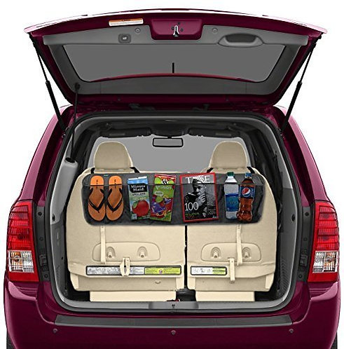 Trunk Organizer Multi-Pocket Stretchable Storage Organizer For Car Back Seat