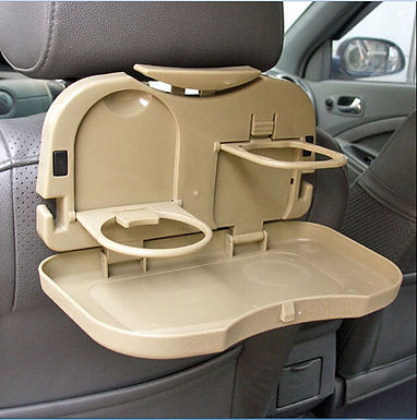 Multifunction Folding Car Back Seat Table Drink Food Cup Tablet Tray Holder