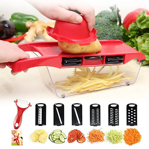 Vegetable Cutter with Steel Blade Mandoline Peeler Cheese Grater Slicer